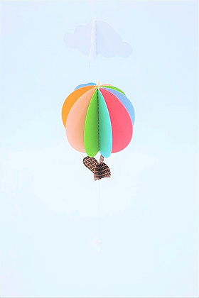 Hot Air Balloon Mobile - Muted Rainbow