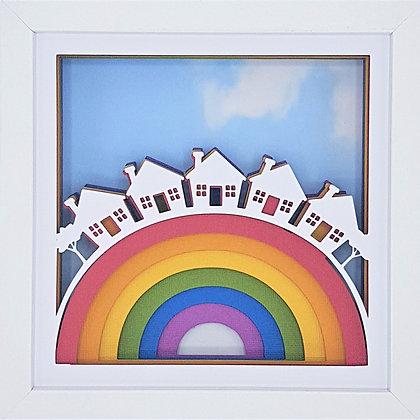 Rainbow Houses Frame