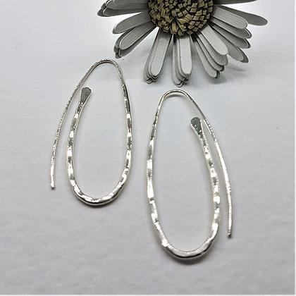 Silver Paperclip Earrings