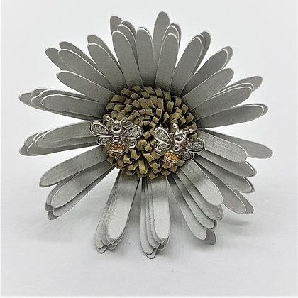 Yellow Honey Bee Silver & Cubic Zirconia Earrings