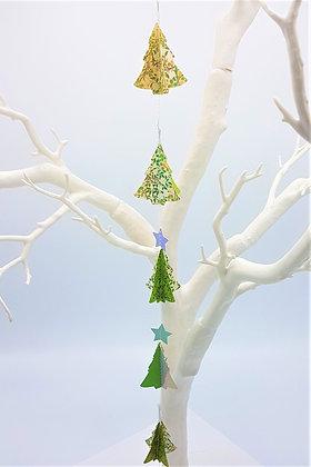 Mini Christmas Tree Mobiles