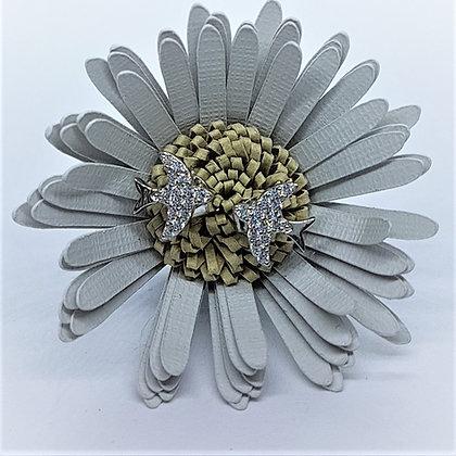 Swift Stud Earrings, Silver & Cubic Zirconia