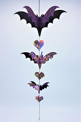 Bat-Wing Mobile - Pink and Purple