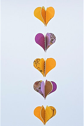 Heart Mobiles - Purple and Orange