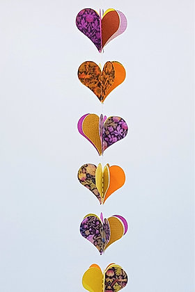 Heart Mobiles -Bright Purple and Orange