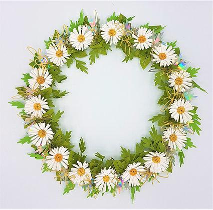 Daisies & Bees Wreath