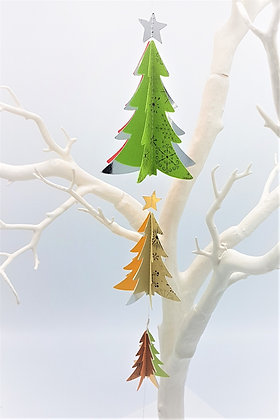 Spiky Christmas Tree Mobiles