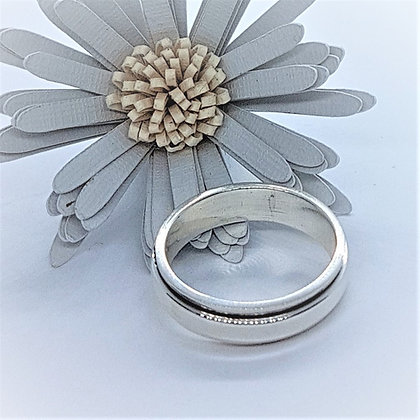 Silver Spinning Band ring