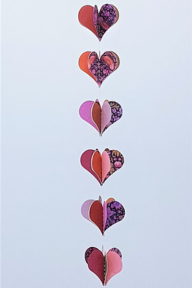 Heart Mobiles -Pretty in Pink