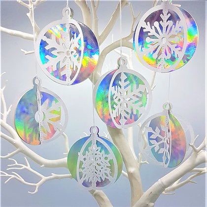 Snowflake Bauble Six-Pack