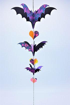 Bat-Wing Mobile - Purple and Orange