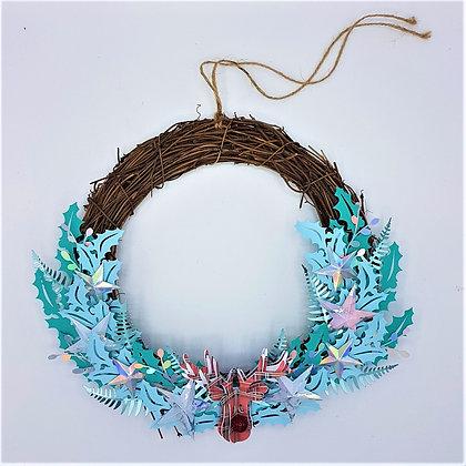 Frosty Blue Wreath