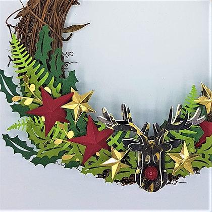 Yuletide Reindeer Wreath