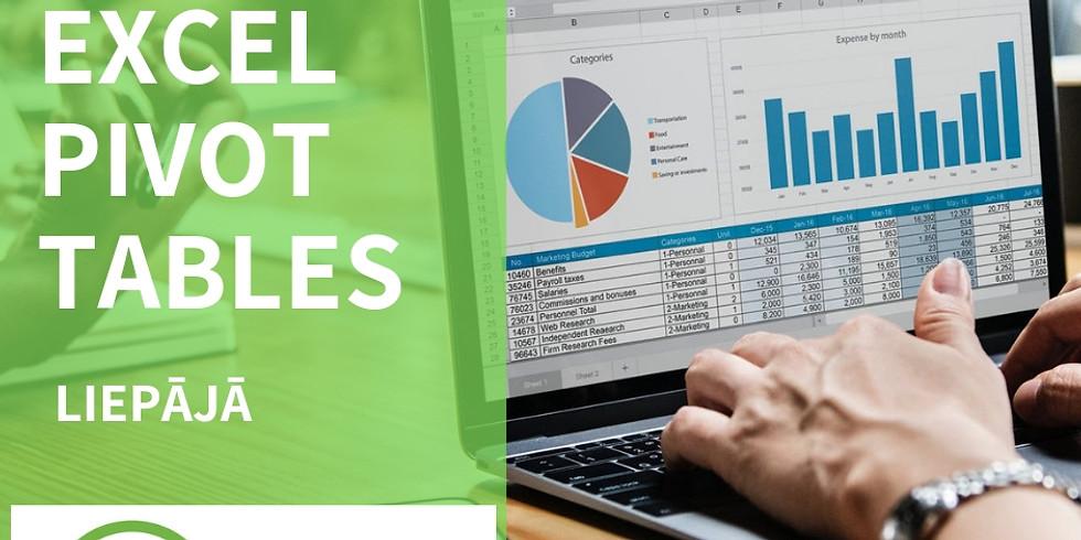 Seminārs Liepājā - datu analīze un vizualizācija Excel PivotTables jeb rakurstabulās