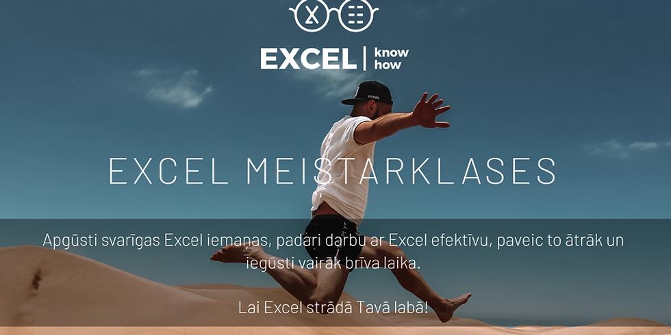 Excel meistarklase [atvērta grupa] (3. no 5)