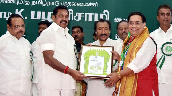 """Guru Sri. Tiruvarur Vaidyanthan Sir Recieves the Prestigious """"Kalaimamani"""" Award From Tami"""