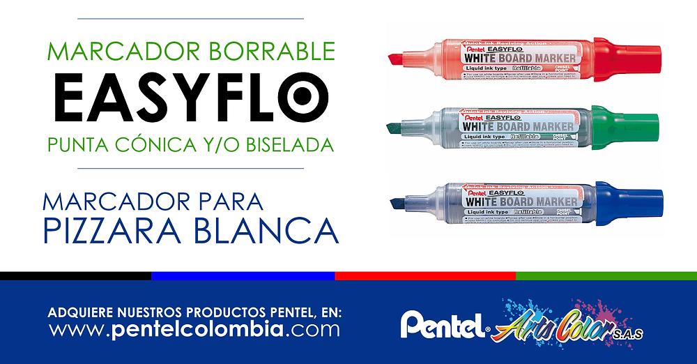 Marcador Borrable Easyflo Pentel - Punta Biselada