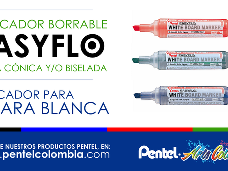 Marcador Borrable Easyflo Pentel - Punta cónica y/o Biselada