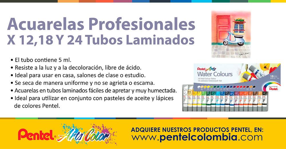 Acuarelas Profesionales X 12,18 Y 24 Tubos Laminados (WFRS)