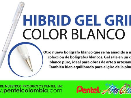 HIBRID GEL GRIP color Blanco Pentel
