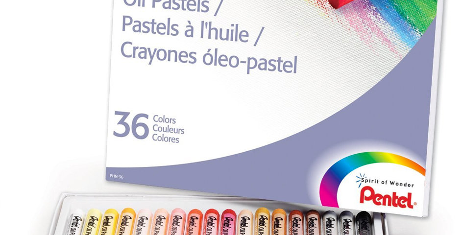 Pentel  Crayones- Oleo pastel de aceite barra practica suave libre de acido de mayor duración para  dibujar  pintar bocetar