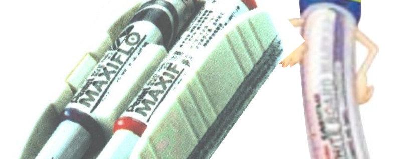 Pentel Borrador Tablero Blanco Económico Diseño  Practico Innovador  Contiene 6 Felpas para  Mayor Duración