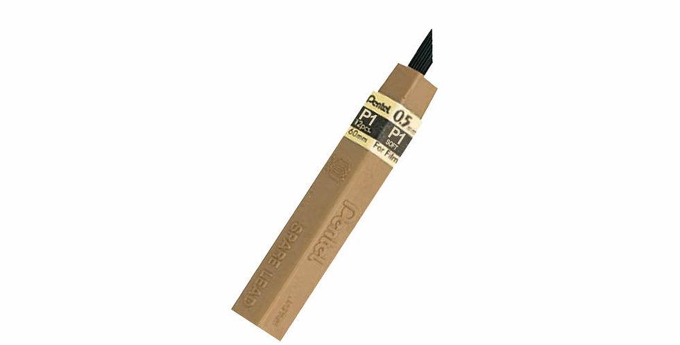 Pentel Tubo X 12 minas 0.5mm  de grafito fácil borrado y dibujos mas limpios