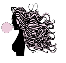 sugar extensions logo, content creator, hair, hair extensions, illustration