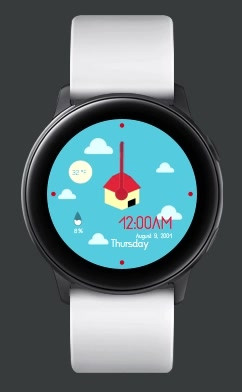 House in the Sky: Samsung Watchface Design