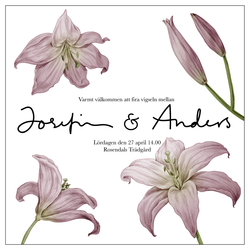 Wedding invitation, lillies