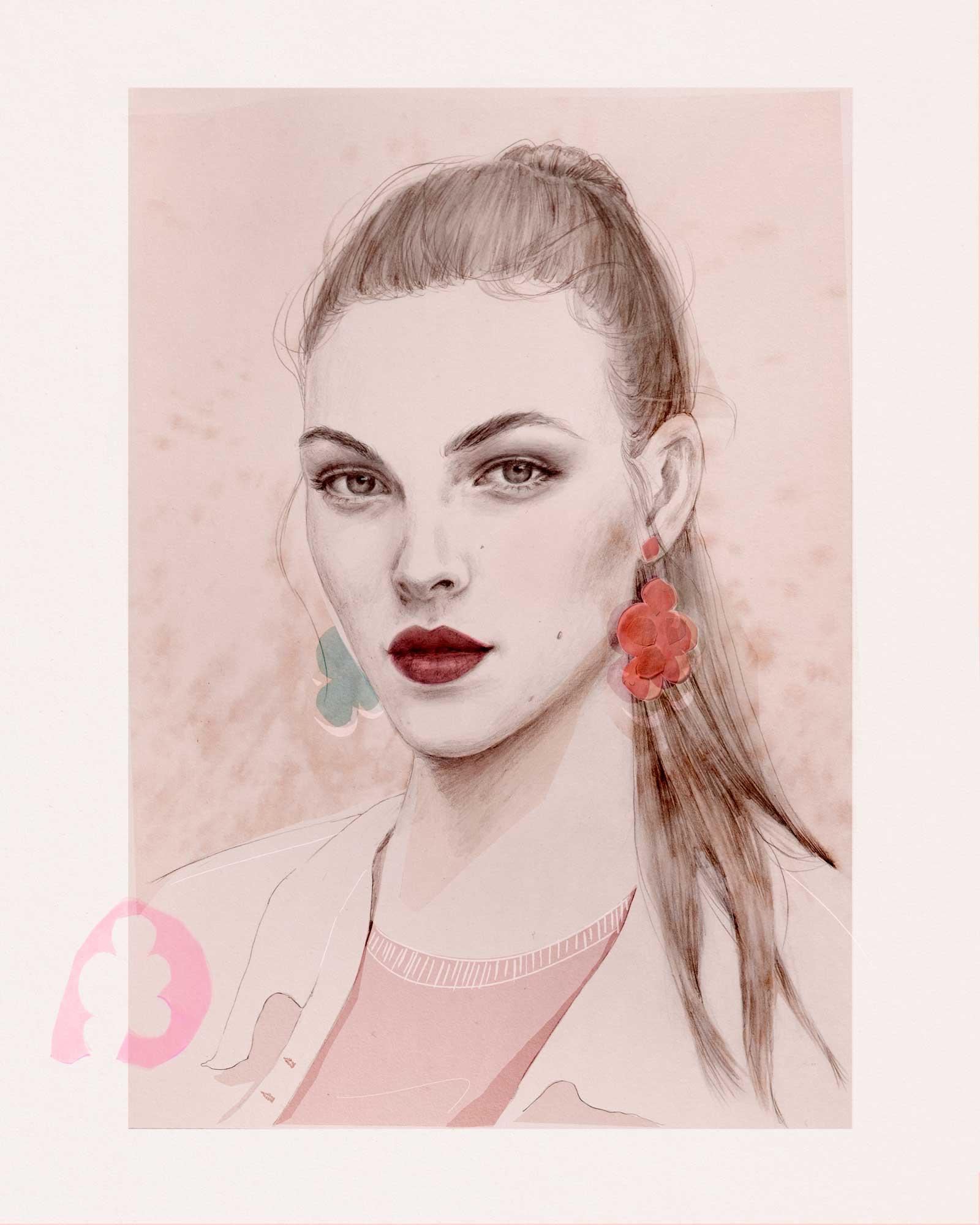 Mixed media – pinks