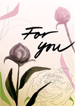 Peonies – greeting card
