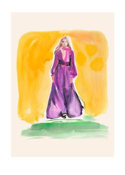 Purple dress, Giambattista Valli