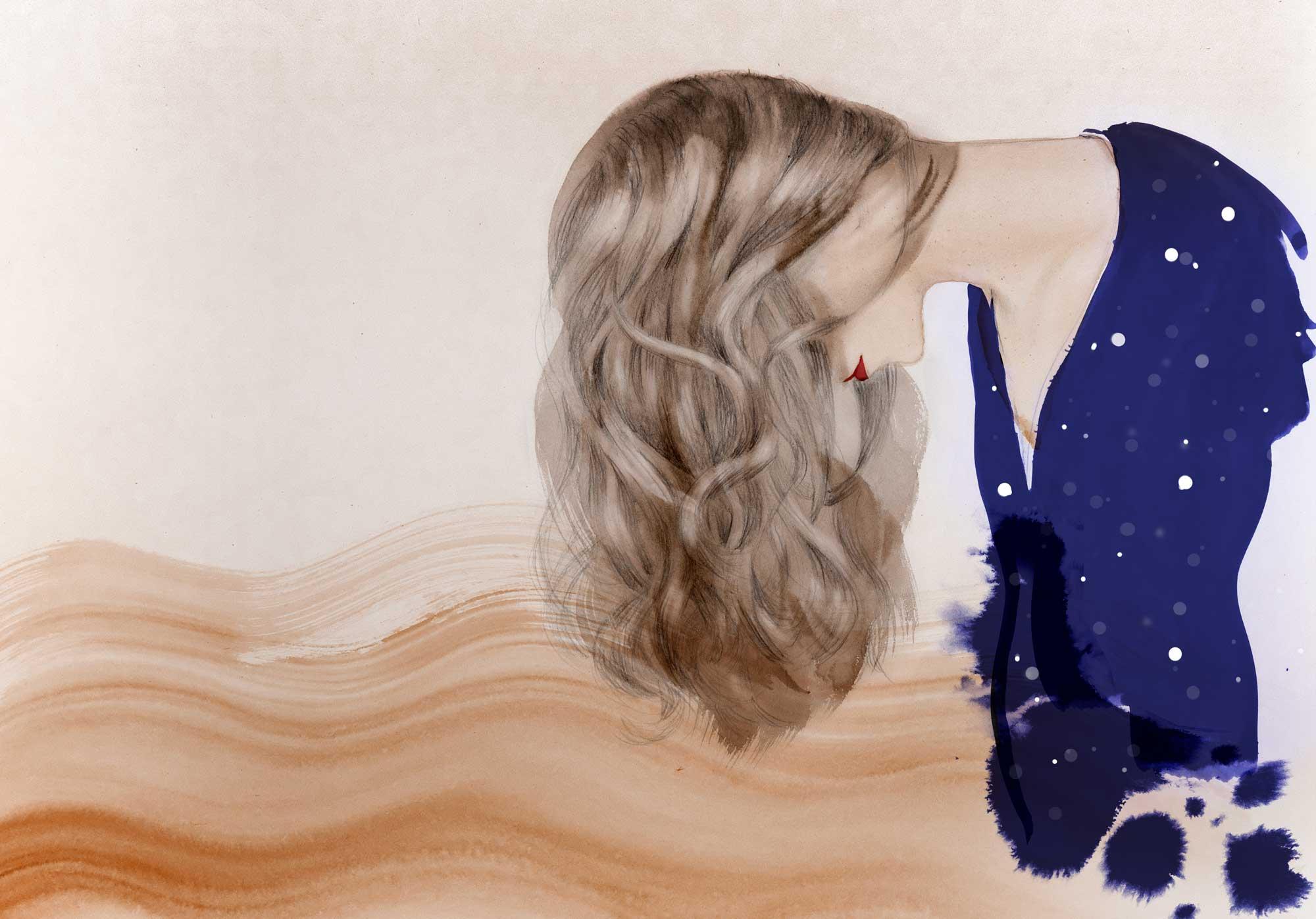 Hair forward