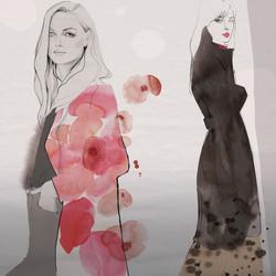 Floral coat
