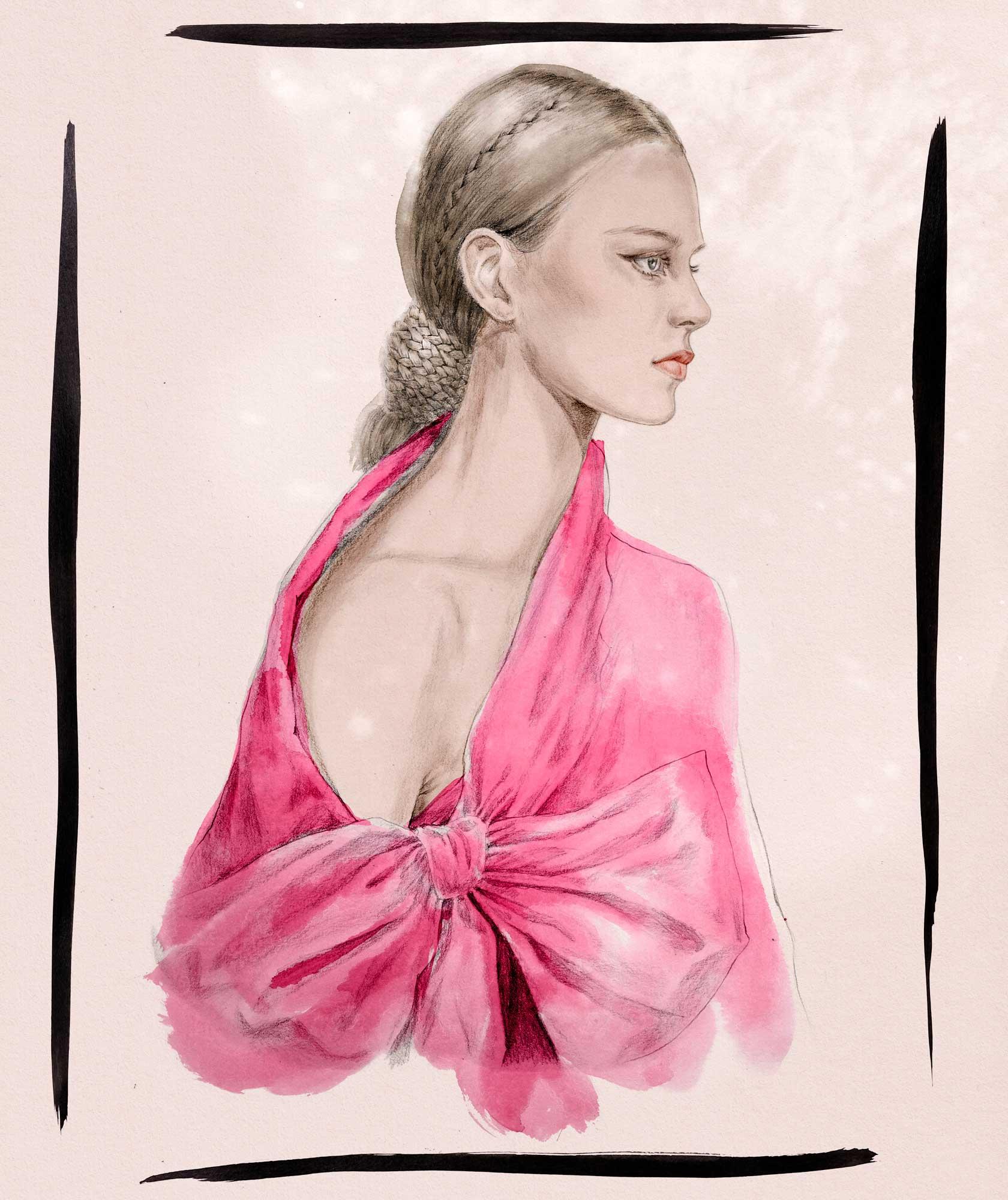 Valentino braid and bow