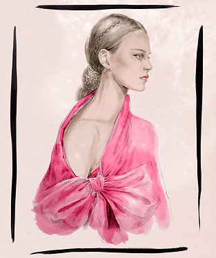 Valentino braid and bow