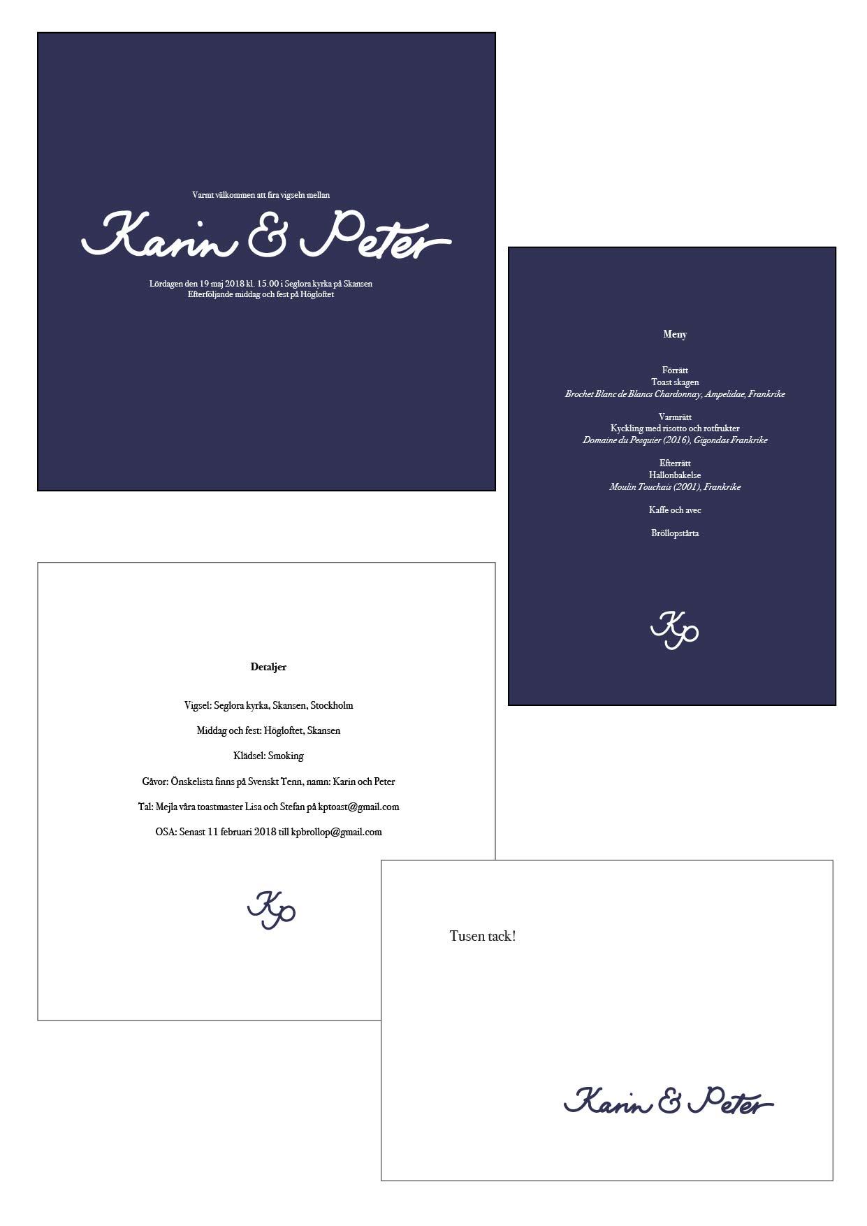 Wedding invitation suite, graphic