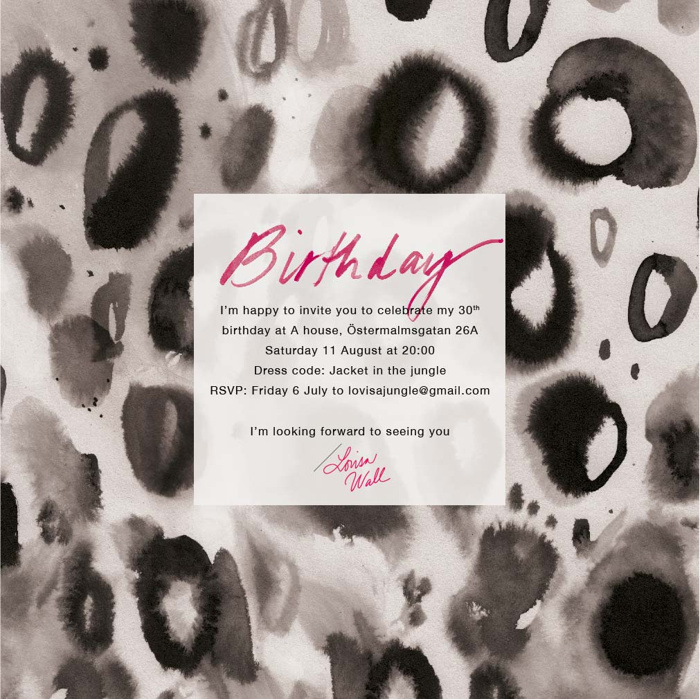 Birthday invitation, jungle