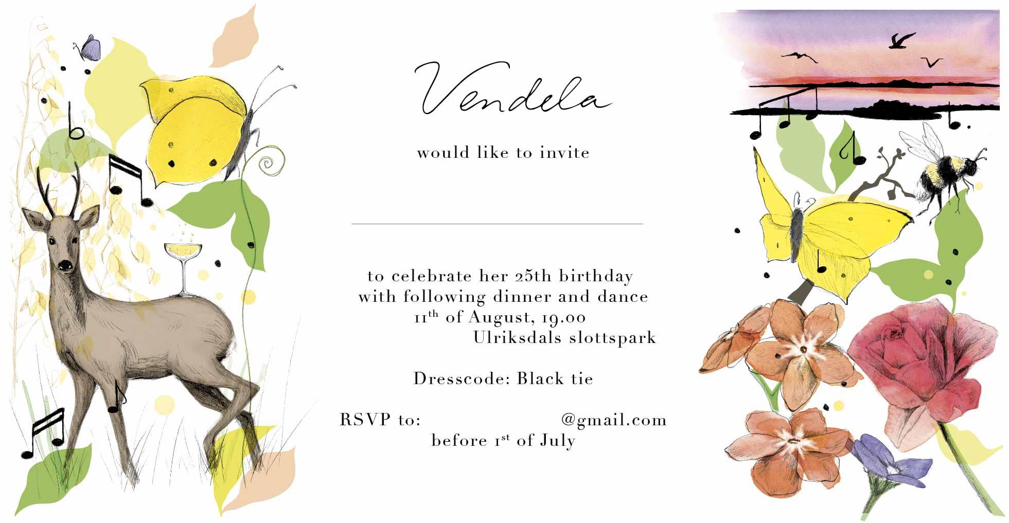 Birthday invitation – details