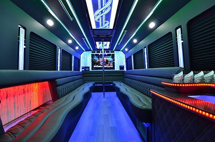20 Passenger Party Bus Inside Spark Limo