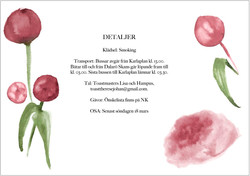 Wedding invitation, peonies