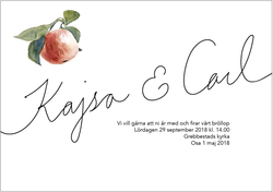 Wedding invitation, apples