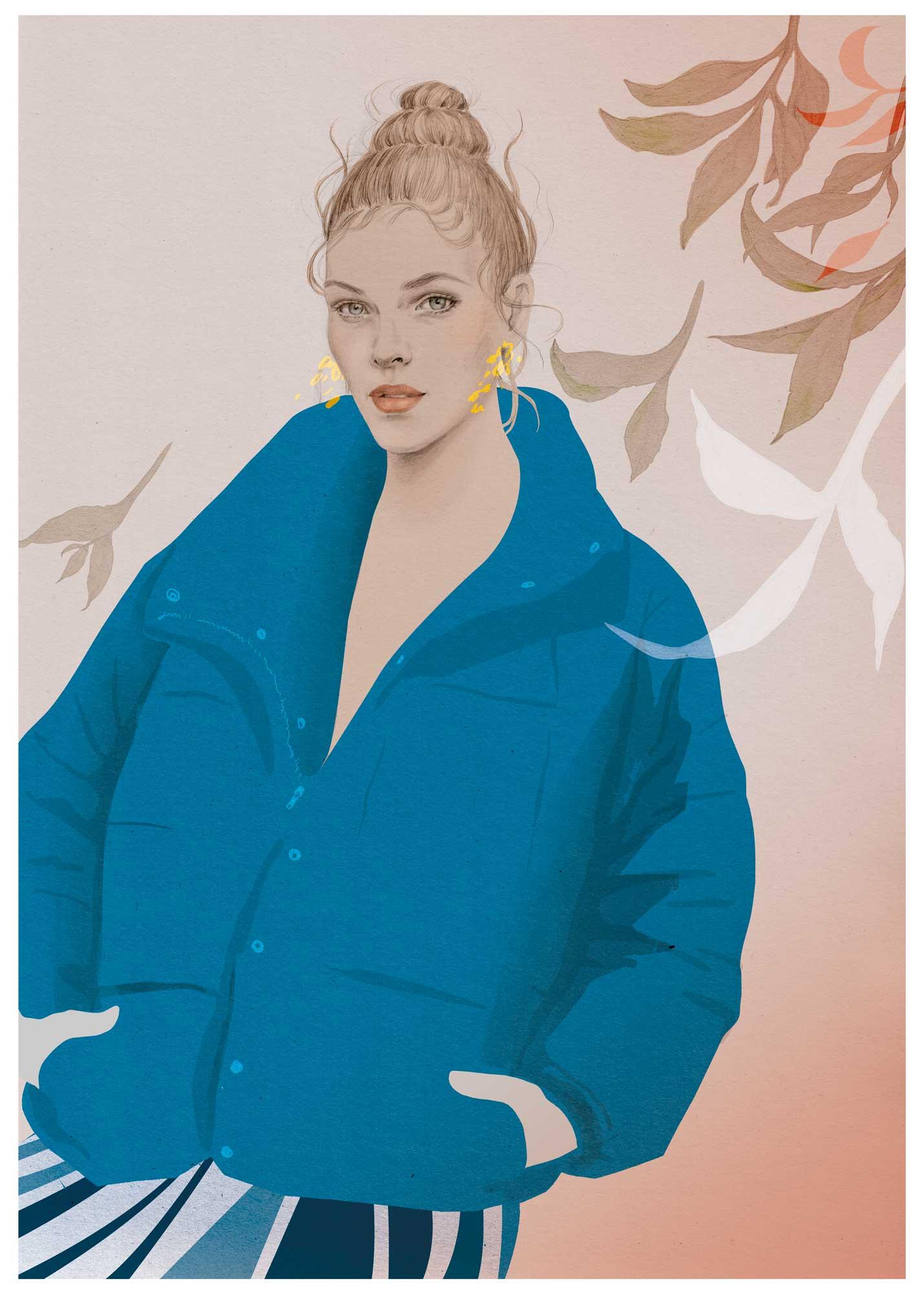 Puffer jacket, fall