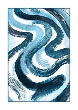 Waves | Greeting cards | 5 pcs