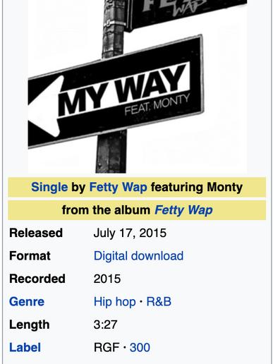 My Way by Fetty Wap ft. Monty - Micah Producer Credit