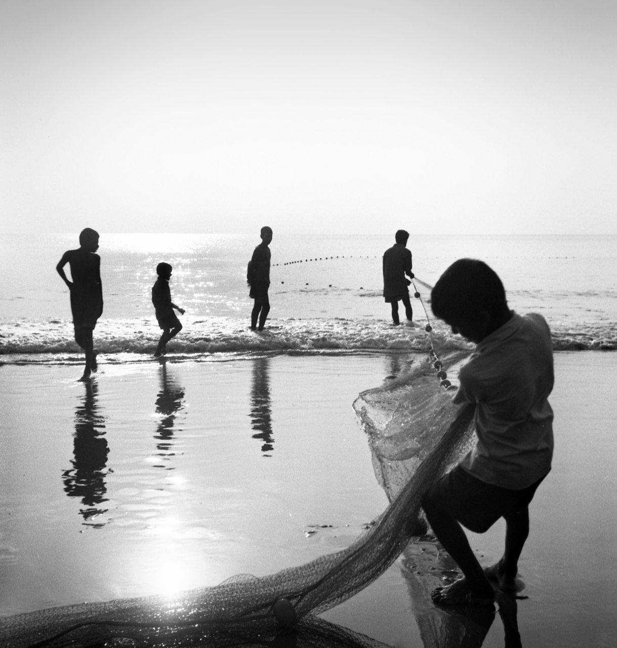 Fishermen at Sunset, Gokarna
