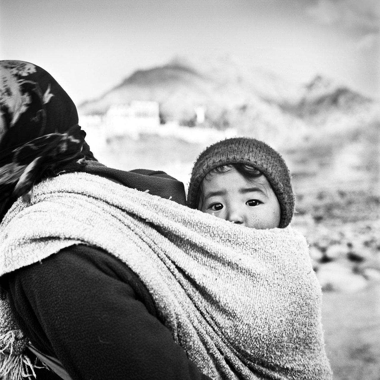 Walking to the Monastery, Ladakh