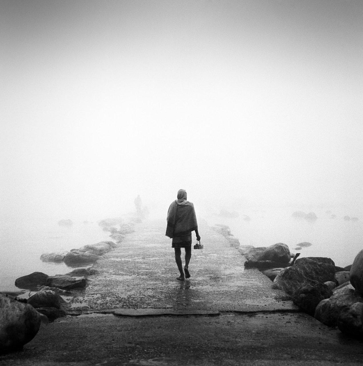 Morning mist, Rishikesh