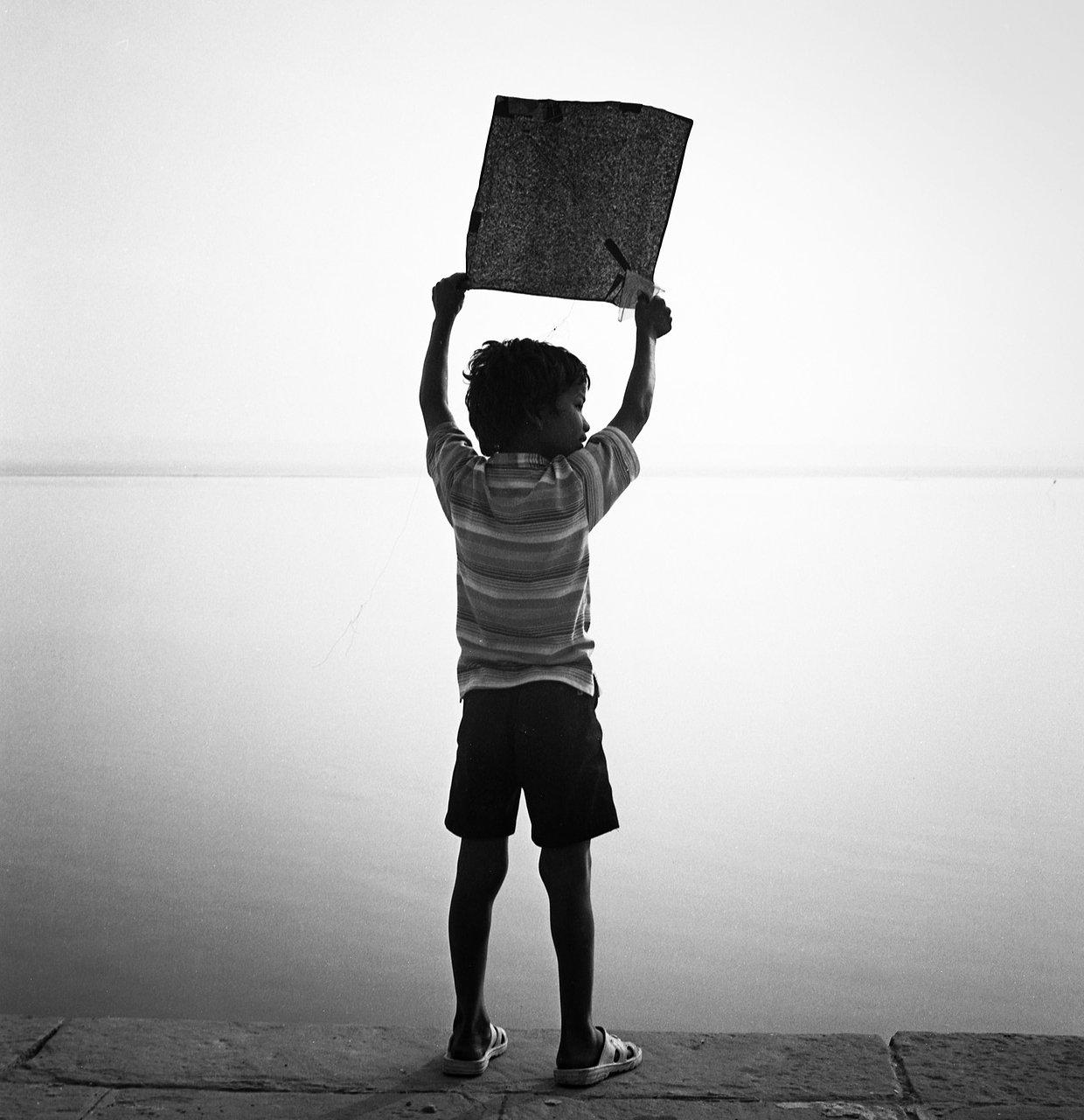Kite boy, Varanassi